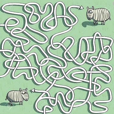 zebra maze 1 - Children's Corner