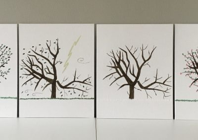 Picture 1 Tree in four seasons 400x284 - 2020 IAES Virtual Art Show