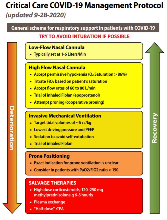 critical care COVID-19 Management Protocol