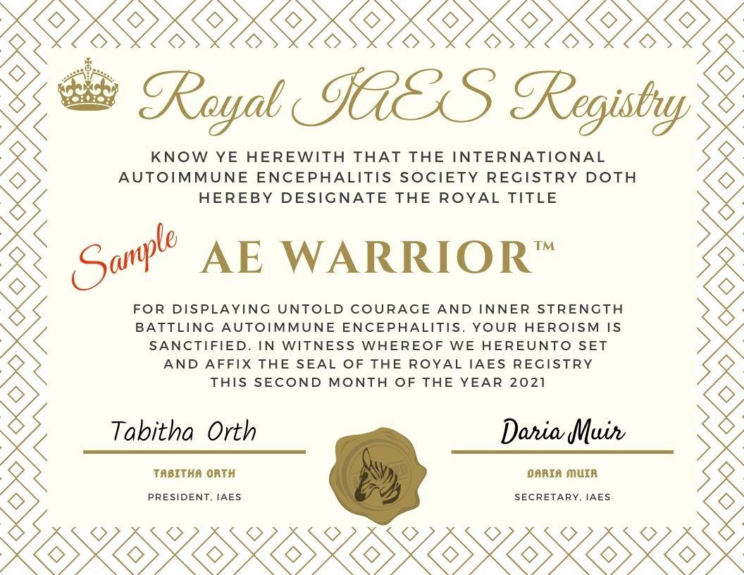 AE Warrior_2021 Certificate-sample