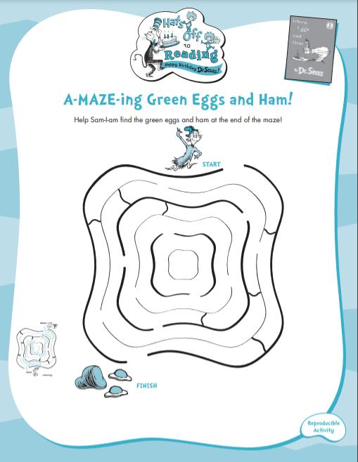 green eggs and ham maze childrens corner IAES website - Children's Corner